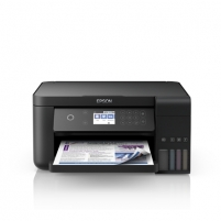 Printer Epson All-in-One Ink Tank Printer L6160 Colour, Inkjet, Cartridge-free printing, A4, Wi-Fi, Black Multifunction printers
