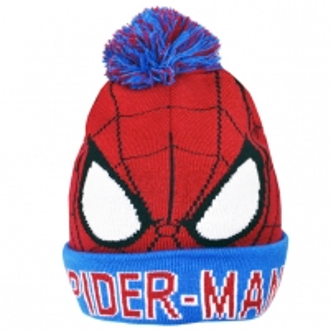 Spiderman vaikiška žieminė kepurė su bumbulu