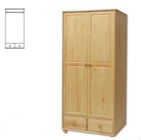 Spinta SF122 (90x190x55 cm) Wooden bedroom closets