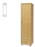 Spinta SF124 (50x190x55 cm) Wooden bedroom closets