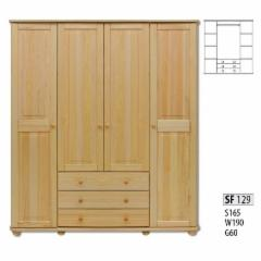 Spinta SF129 (170x190x60 cm) Wooden bedroom closets