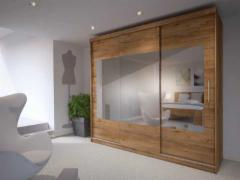 Cupboard Sino 260 LED oak lefkas Bedroom cabinets