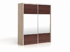 Cupboard with mirror F19 SZF2M/200 Oak sonoma/american pear