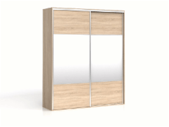 Cupboard with mirror F19 SZF2M/200 Oak sonoma