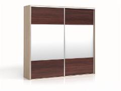 Cupboard with mirror F19 SZF2M/250 Oak sonoma/american pear