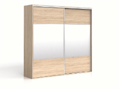 Cupboard with mirror F19 SZF2M/250 Oak sonoma Bedroom cabinets