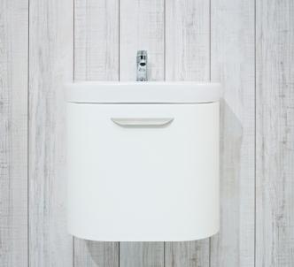 Cabinet Deep by Jika 50cm vanity, white