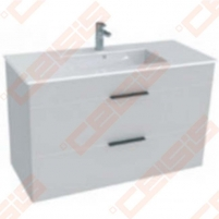 Cabinet JIKA Cube with wash basin 100x43 cm, white