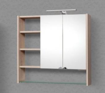 Spintelė su veidrodžiu Riva SV80-13 Vonios spintelės