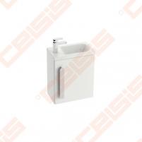 Spintelės korpusas mažam praustuvui RAVAK CHROME SD 400 x 220 x 500 mm, baltos spalvos