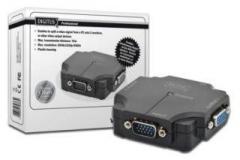 Spliteris Digitus 1xPC=>2xVGA, 350 MHz Monitoru piederumi