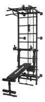 Sporto kompleksas-jėgos treniruoklis KRAFT SystemLight 3in1 FLEXTER juodas, 247x68,5cm
