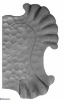Spynos uždengimas F (be skylių) dešininis, L13KZ036 Kalviškos rankenos, spynos, vyriai