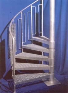 Sraigtinių laiptų pakopos 33x33/30x2, cinkuota, užmaunama Metalinės laiptų pakopos