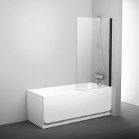 Stacionari vonios sienelė Ravak Pivot, PVS1 80 juodas+stiklas Transparent Dušas sienas