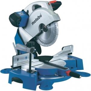 Staklės Metabo KS 254 PLUS Compound mitre saw (80102540100), 1800 W, 4700 rpm, Ø 254 x 30 mm Medžio apdirbimo staklės