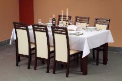 Stalas Samba 100x100 Baro, restorano stalai