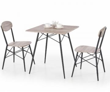 Stalas su 2 kėdėm KABIR kwadrat Virtuves galdi