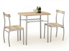 Stalas su kėdėm LANCE (ąžuolas sonoma) Kitchen tables