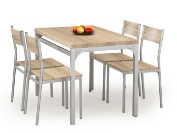 Stalas su kėdėm MALCOLM (ąžuolas sonoma) Virtuvės stalai