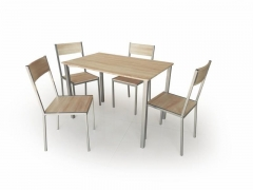 Stalas su kėdėm RALPH Virtuvės stalai