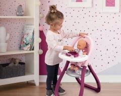 Stalelis 7600220342 SMOBY High Baby Nurse Стульчик для кормления куклы