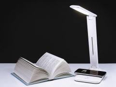 Stalinis lempa + USB įkrovimas + belaidis įkrovimas 5W TRACER Lumina Desktop lamps