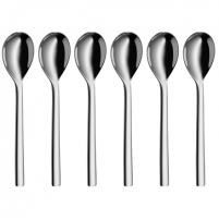 Stalo įrankiai WMF Nuova Spoons, Material Cromargan® 18/10 stainless steel, 6 pc(s), Dishwasher proof, Stainless steel Stalo įrankiai