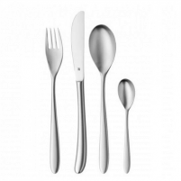 Stalo įrankiai WMF SILK matt Cutlery set, Material Cromargan® 18/10 stainless steel, 4 pcs., 24 pc(s), Dishwasher proof, Stainless steel Stalo įrankiai