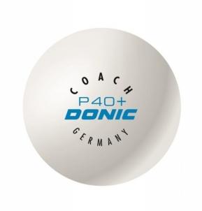 Stalo teniso kamuoliukai DONIC *** 3 vnt balti