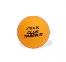Stalo teniso kamuoliukas STIGA CLUB TRAINER 40 mm geltonas Stalo teniso kamuoliukai