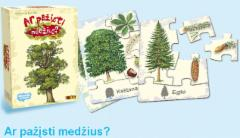 Stalo žaidimas: Ar pažįsti medžius? Stalo žaidimai vaikams