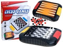 Stalo žaidimų lenta 3 viename, Chess Games