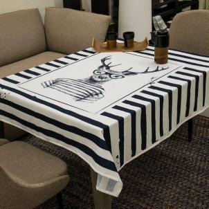 Staltiesė Briedis-Zebras 145x145 cm Galda veļa