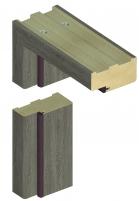 Standartinė durų stakta D90 44*90 Ąžuolas pilkas (B476) Durų furnitūra