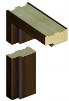 Standard door frame INVADO D60 44/90 Duro nut (B473) Veneered doors