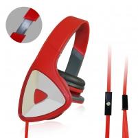 Stereo ausinės su mikrofonu Vakoss Garsumo valdymas SK-428HR Piros