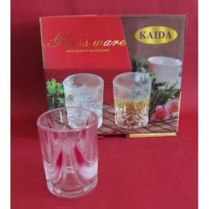 Stiklinės 6vnt. 200ml dekor. Y02B (dėžutėje)