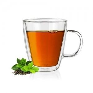 Stiklinis puodelis su dvigubomis sienelėmis 1vnt (7777) Kafija un tēja