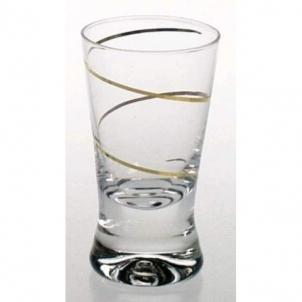 Stikliukai 6 vnt. X Orka su auksine spirale 25 ml Stikliukai