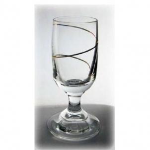 Stikliukai 6vnt. su kojele auksin. spiral 20 ml Stikliukai