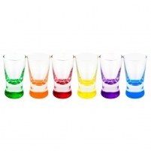 Stikliukai 6vnt. X Orka spalv. mix 2520 25ml Stikliukai