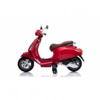 Stilingas elektrinis raudonas motoroleris su šoniniais ratukais CH8820 (WDCT-728 VESPA) Автомобили для детей