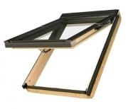 Roof windows FAKRO FPU-V with glass U3 and hatch V40P, 114x140 cm, pine wood