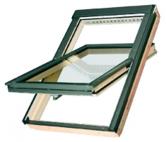 Roof windows FAKRO FTP-V with glass U3, 78x160 cm, pine wood