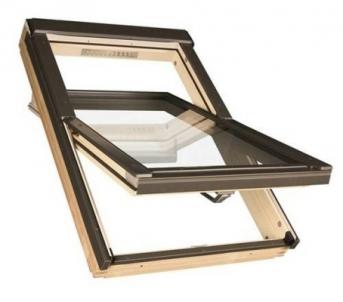 Roof windows FAKRO FTS-V with glass U2,  94x118  cm, pine wood Skylights