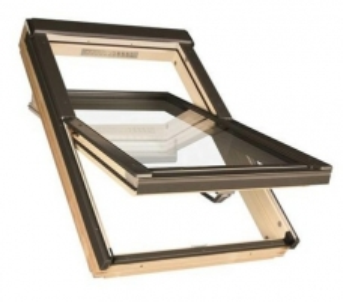 Stoglangis FAKRO FTS-V su stiklo paketu U2, 114x118 cm, pušies medienos