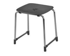 STOOL ANTHRACITE/CHROMED