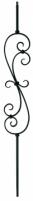 Strypas 12*12 su rozete (vamzdis) BLACK, L04STB05 Kaltiniai metalo dirbiniai