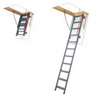 Folding section loft ladders FAKRO LMK 70x120x280, metal
